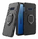Eiroo Armor Samsung Galaxy S10e Standlı Ultra Koruma Siyah Kılıf