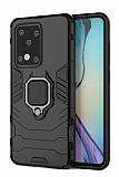 Eiroo Armor Samsung Galaxy S20 Ultra Standlı Ultra Koruma Siyah Kılıf