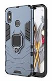 Eiroo Armor Xiaomi Mi 8 Standlı Ultra Koruma Lacivert Kılıf