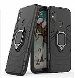 Eiroo Armor Xiaomi Mi Mix 2s Standlı Ultra Koruma Siyah Kılıf