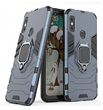 Eiroo Armor Xiaomi Mi Mix 2s Standlı Ultra Koruma Lacivert Kılıf