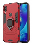 Eiroo Armor Xiaomi Mi Play Standlı Ultra Koruma Kırmızı Kılıf
