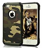 Eiroo Army iPhone SE / 5 / 5S Ultra Koruma Yeşil Kılıf