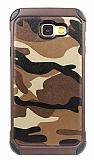 Eiroo Army Samsung Galaxy A7 2017 Ultra Koruma Kahverengi Kılıf