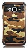 Eiroo Army Samsung Galaxy J2 Ultra Koruma Kahverengi Kılıf