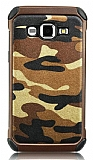 Eiroo Army Samsung Galaxy J3 Ultra Koruma Kahverengi Kılıf
