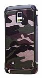 Eiroo Army Samsung Galaxy Note 4 Ultra Koruma Yeşil Kılıf