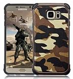 Eiroo Army Samsung Galaxy Note 5 Ultra Koruma Kahverengi Kılıf