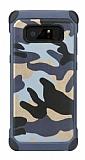 Eiroo Army Samsung Galaxy Note 8 Ultra Koruma Lacivert Kılıf