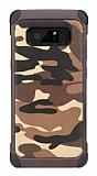 Eiroo Army Samsung Galaxy Note 8 Ultra Koruma Kahverengi Kılıf