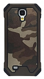 Eiroo Army Samsung Galaxy S4 Ultra Koruma Kahverengi Kılıf