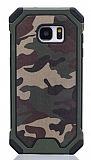 Eiroo Army Samsung Galaxy S6 Edge Ultra Koruma Yeşil Kılıf