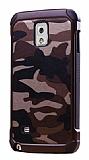 Eiroo Army Samsung N9000 Galaxy Note 3 Ultra Koruma Kahverengi Kılıf
