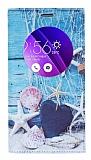 Asus Zenfone 2 Gizli Mıknatıslı Pencereli Deniz Yıldızı Deri Kılıf