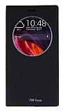 Asus Zenfone 2 Laser 6 inç Gizli Mıknatıslı Çerçeveli Siyah Deri Kılıf