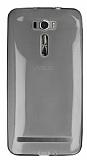 Asus Zenfone 2 Laser 6 inç Ultra İnce Şeffaf Siyah Silikon Kılıf