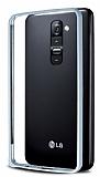 Eiroo LG G2 Metal Bumper �er�eve Silver K�l�f