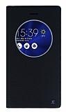 Asus ZenFone 3 ZE552KL Gizli Mıknatıslı Çerçeveli Siyah Deri Kılıf