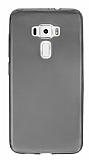 Eiroo Asus ZenFone 3 ZE552KL Ultra İnce Şeffaf Siyah Silikon Kılıf