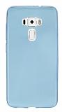 Asus ZenFone 3 ZE552KL Ultra İnce Şeffaf Mavi Silikon Kılıf