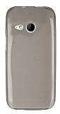 HTC One mini 2 Ultra İnce Şeffaf Siyah Silikon Kılıf