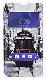 Eiroo Sony Xperia T3 Gizli Mıknatıslı Çift Pencereli Taksim Deri Kılıf