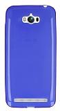 Eiroo Asus ZenFone Max Ultra �nce �effaf Mavi Silikon K�l�f