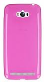 Eiroo Asus ZenFone Max Ultra �nce �effaf Pembe Silikon K�l�f