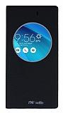 Asus ZenFone Selfie Gizli Mıknatıslı Çerçeveli Siyah Deri Kılıf