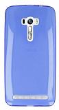 Asus ZenFone Selfie Ultra İnce Şeffaf Mavi Silikon Kılıf