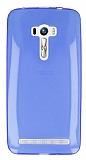 Eiroo Asus ZenFone Selfie Ultra �nce �effaf Mavi Silikon K�l�f