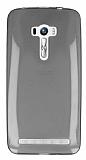Asus ZenFone Selfie Ultra İnce Şeffaf Siyah Silikon Kılıf