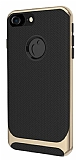 Eiroo Attractive iPhone 6 / 6S Gold Kenarlı Silikon Kılıf