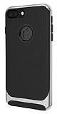 Eiroo Attractive iPhone 7 Plus Silver Kenarlı Silikon Kılıf
