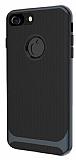 Eiroo Attractive iPhone 8 Siyah Kenarlı Silikon Kılıf