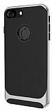 Eiroo Attractive iPhone 8 Silver Kenarlı Silikon Kılıf
