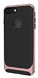 Eiroo Attractive iPhone 8 Plus Rose Gold Kenarlı Silikon Kılıf