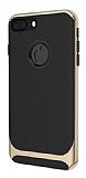 Eiroo Attractive iPhone 8 Plus Gold Kenarlı Silikon Kılıf