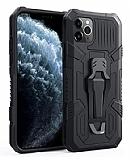 Eiroo Belt Hybrid iPhone 11 Pro Max Ultra Koruma Siyah Kılıf