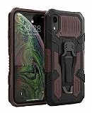 Eiroo Belt Hybrid iPhone XR Ultra Koruma Kahverengi Kılıf