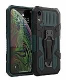 Eiroo Belt Hybrid iPhone XR Ultra Koruma Yeşil Kılıf