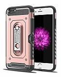 Eiroo Billfold iPhone 7 / 8 Kartlıklı Ultra Koruma Rose Gold Kılıf