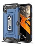 Eiroo Billfold iPhone X / XS Kartlıklı Ultra Koruma Lacivert Kılıf
