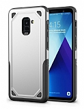Eiroo Binary Samsung Galaxy A8 2018 Ultra Koruma Silver Kılıf
