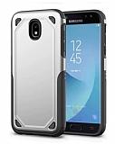 Eiroo Binary Samsung Galaxy J7 Pro 2017 Ultra Koruma Silver Kılıf
