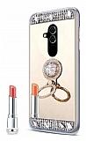 Eiroo Bling Mirror Huawei Mate 20 Lite Silikon Kenarlı Aynalı Gold Rubber Kılıf