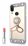 Eiroo Bling Mirror Huawei P20 Lite Silikon Kenarlı Aynalı Gold Rubber Kılıf