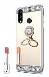 Eiroo Bling Mirror Huawei P20 Pro Silikon Kenarlı Aynalı Gold Rubber Kılıf