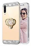 Eiroo Bling Mirror Huawei P30 Silikon Kenarlı Aynalı Gold Rubber Kılıf
