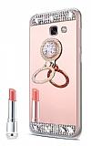 Eiroo Bling Mirror Samsung Galaxy J4 Plus Silikon Kenarlı Aynalı Rose Gold Rubber Kılıf
